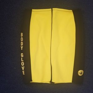 Yellow body glove skirt